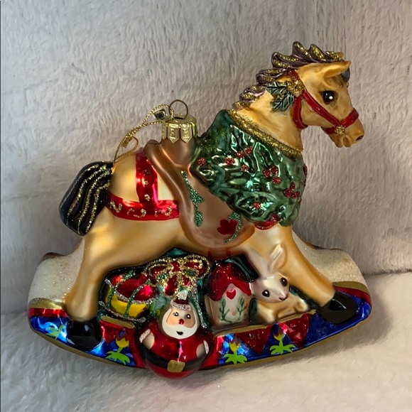 Fitz and Floyd Vintage Rocking Horse Ornament